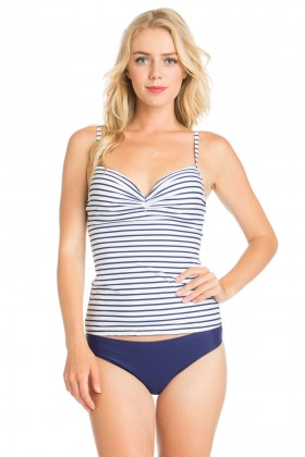 Two piece tankini striped set