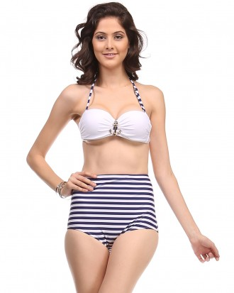 ReeBees Highwaist Stripped bikini
